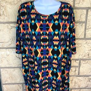 LuLaRoe Aztec Indian Tribe Print Top Tunic Size XL